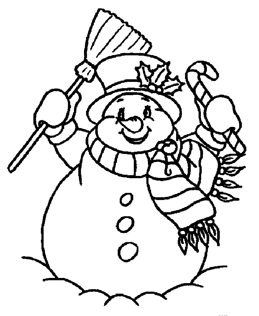 Snowman coloring pages to download