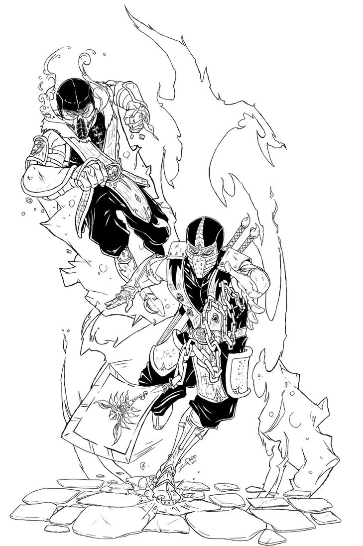 Sub zero coloring pages download