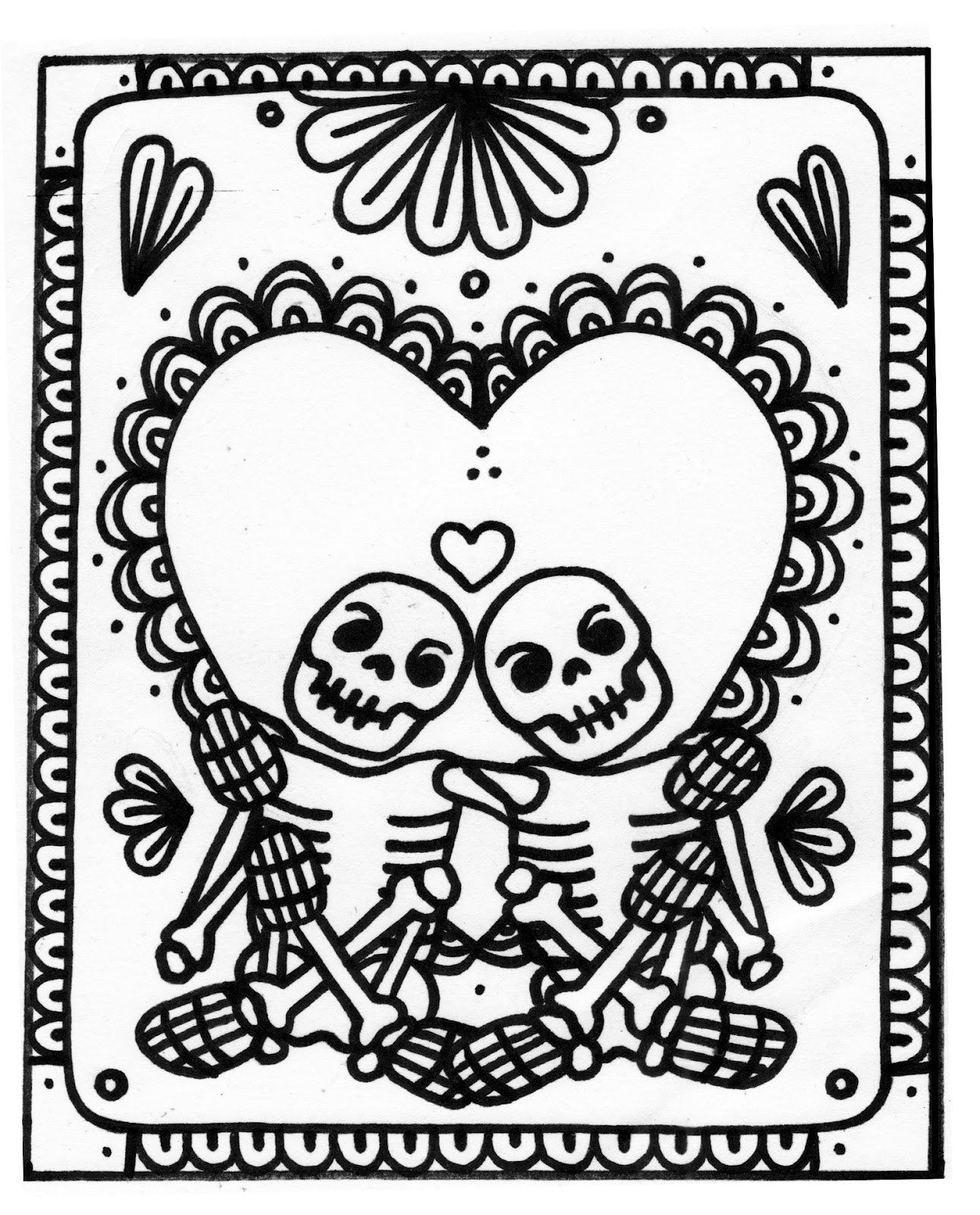 Skeleton coloring pages to download and print for free for Skeleton coloring pages