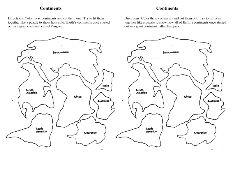 Continent Coloring Pages All Continents In World Map