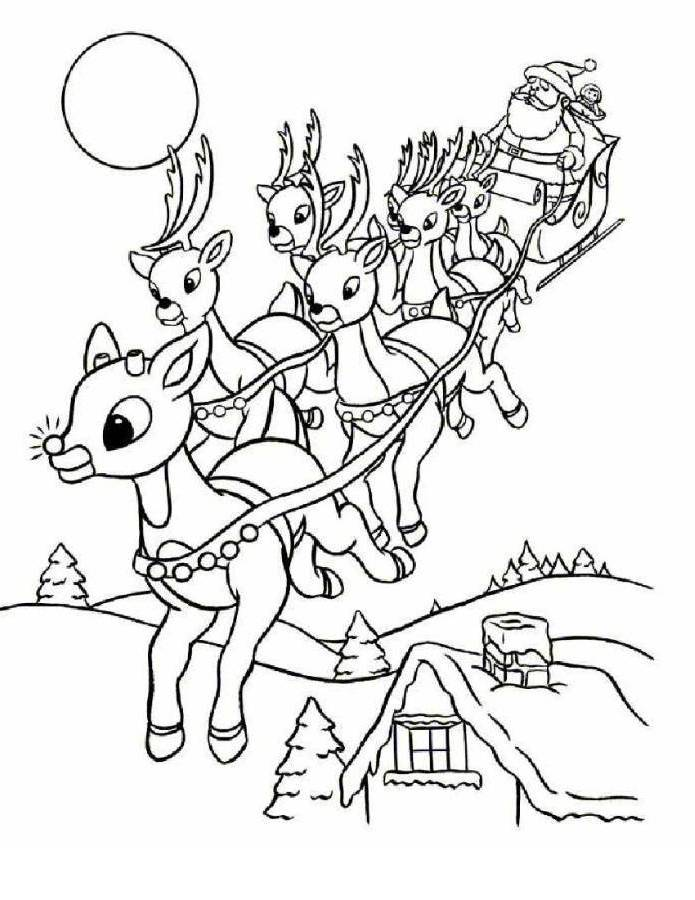 Rudolph coloring pages to download and print for free