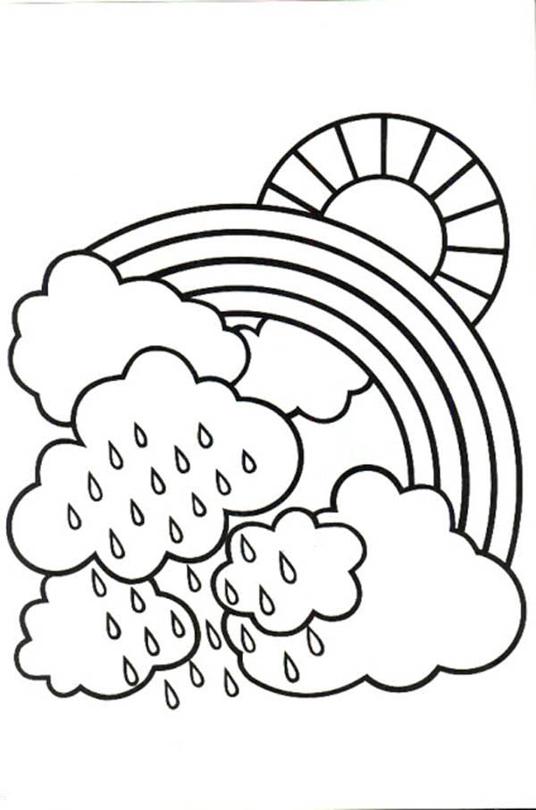 Rain coloring pages to download