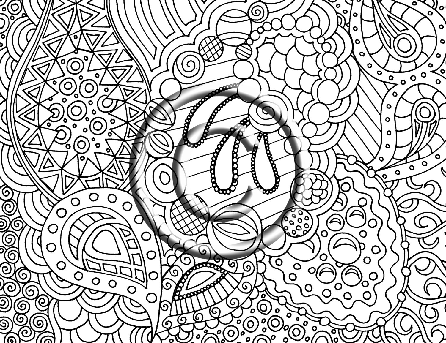 Psychedelic coloring pages to download