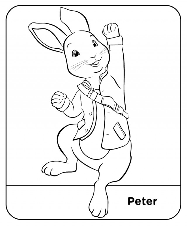 peter rabbit cartoon coloring pages - photo#28