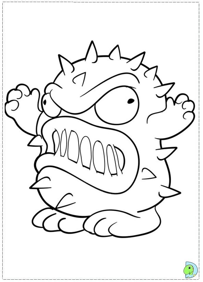 pac man ghost coloring page decimamas