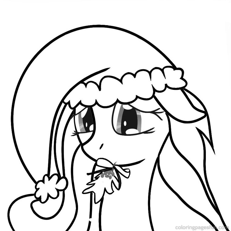 Christmas Colouring Pictures To Print Off : My little pony christmas coloring pages to download and print for free