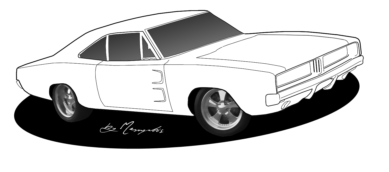 muscle cars coloring pages drawings - photo#6