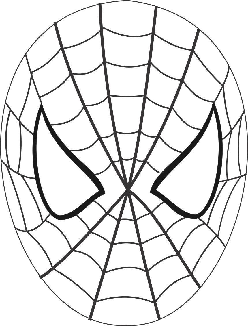 Маска человек паук своими руками из бумаги