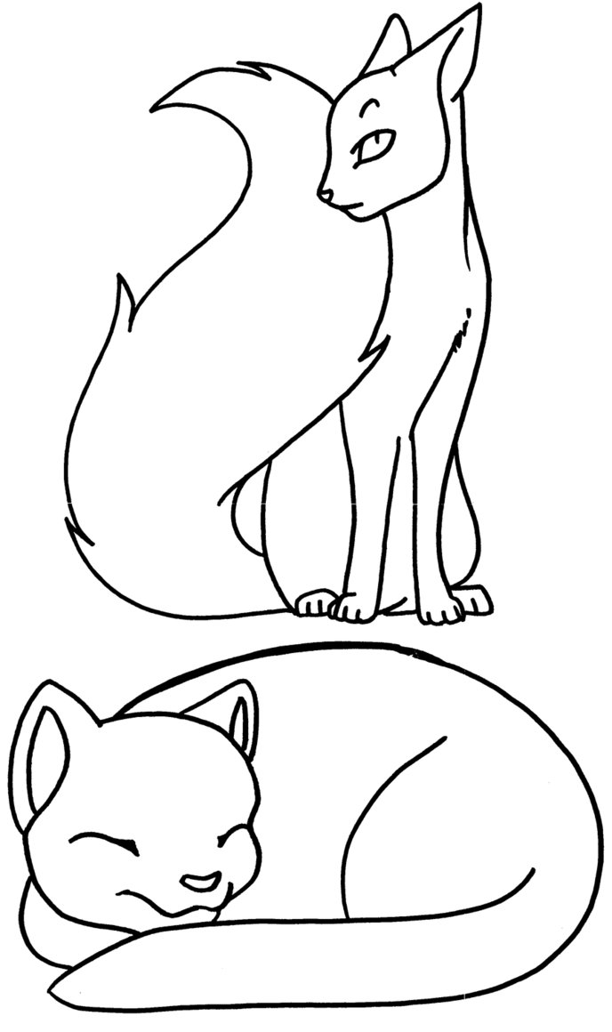 Warrior cat coloring pages to download