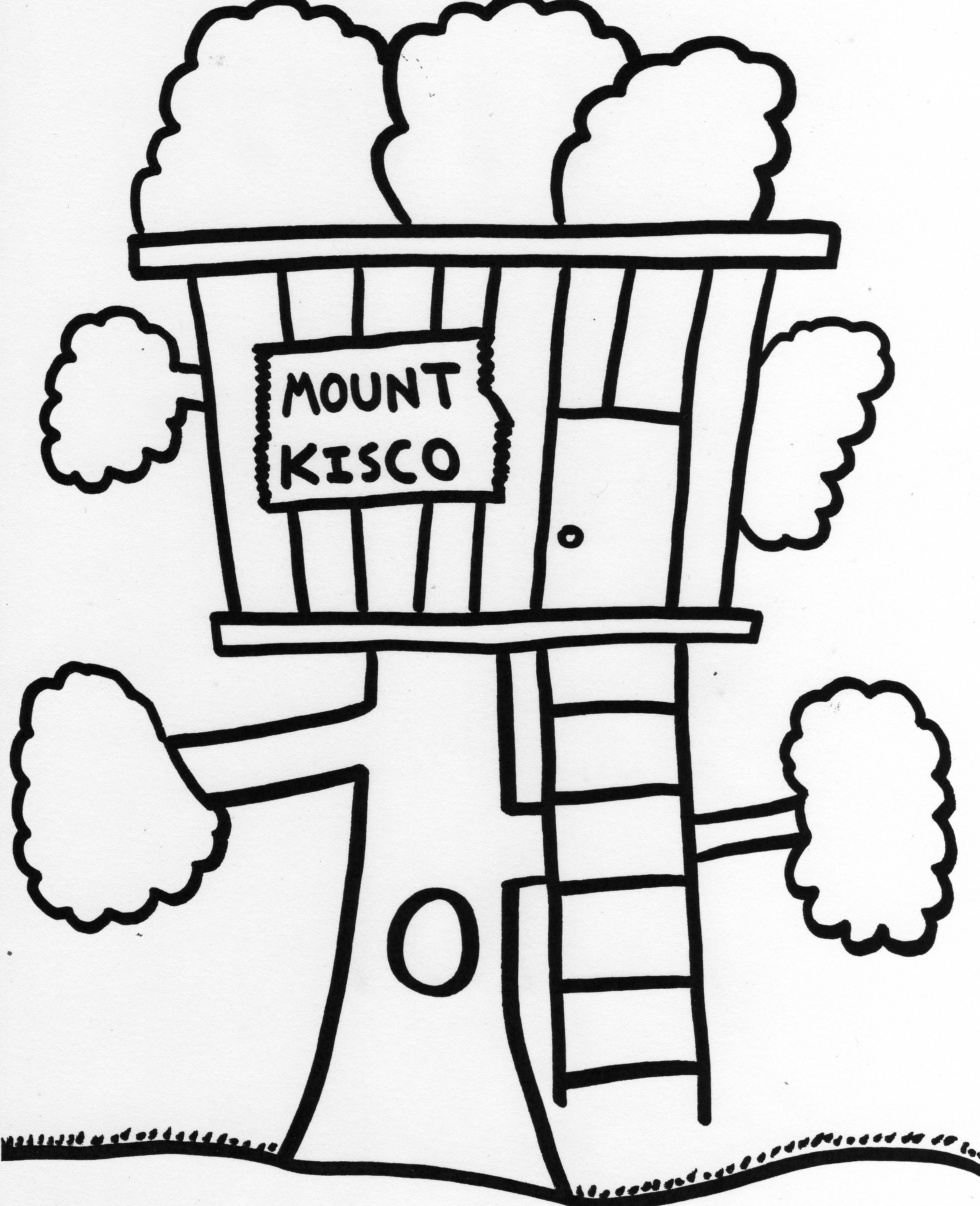 tree house picture to color house pictures