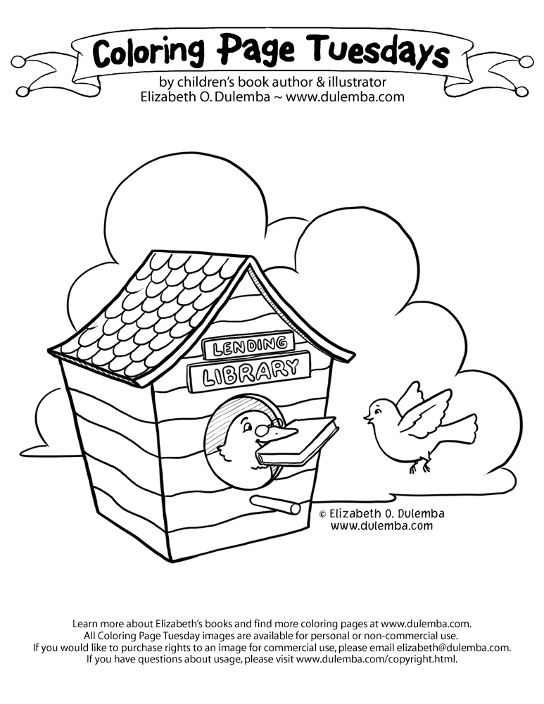 library related coloring pages - photo#21