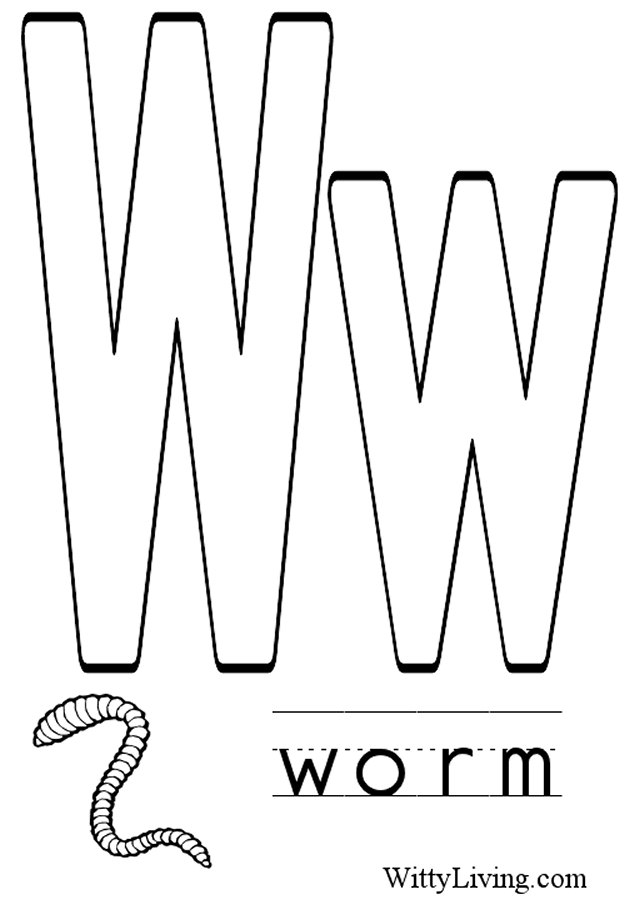 Letter w coloring pages to download