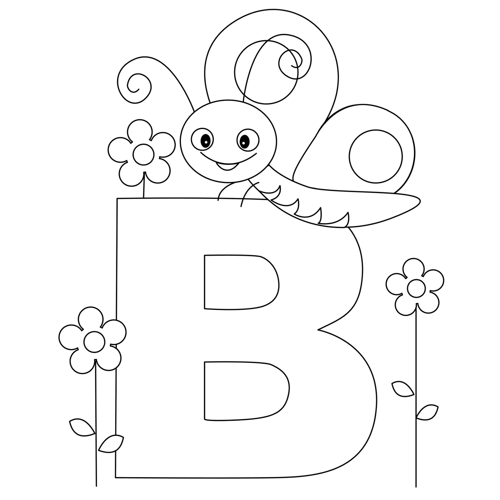 Coloring pictures for adults letters - Letter B Coloring Pages