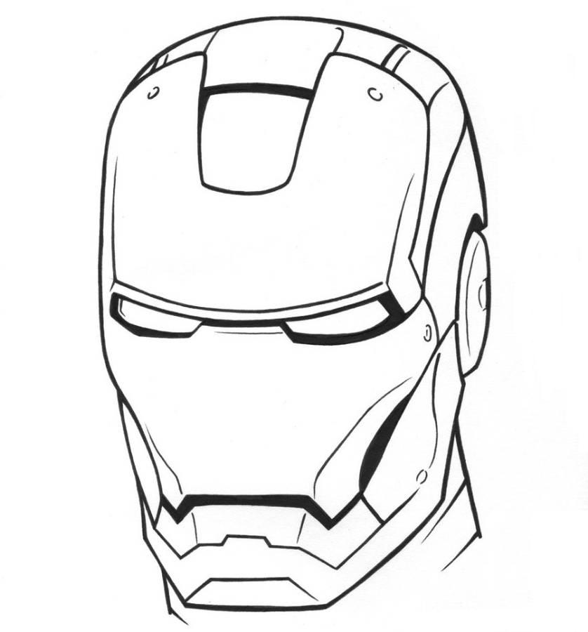 ironman coloring pages - Helmet Coloring Pages