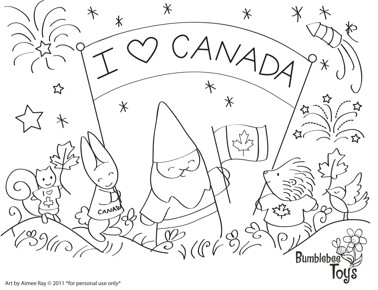 Canada coloring pages to download