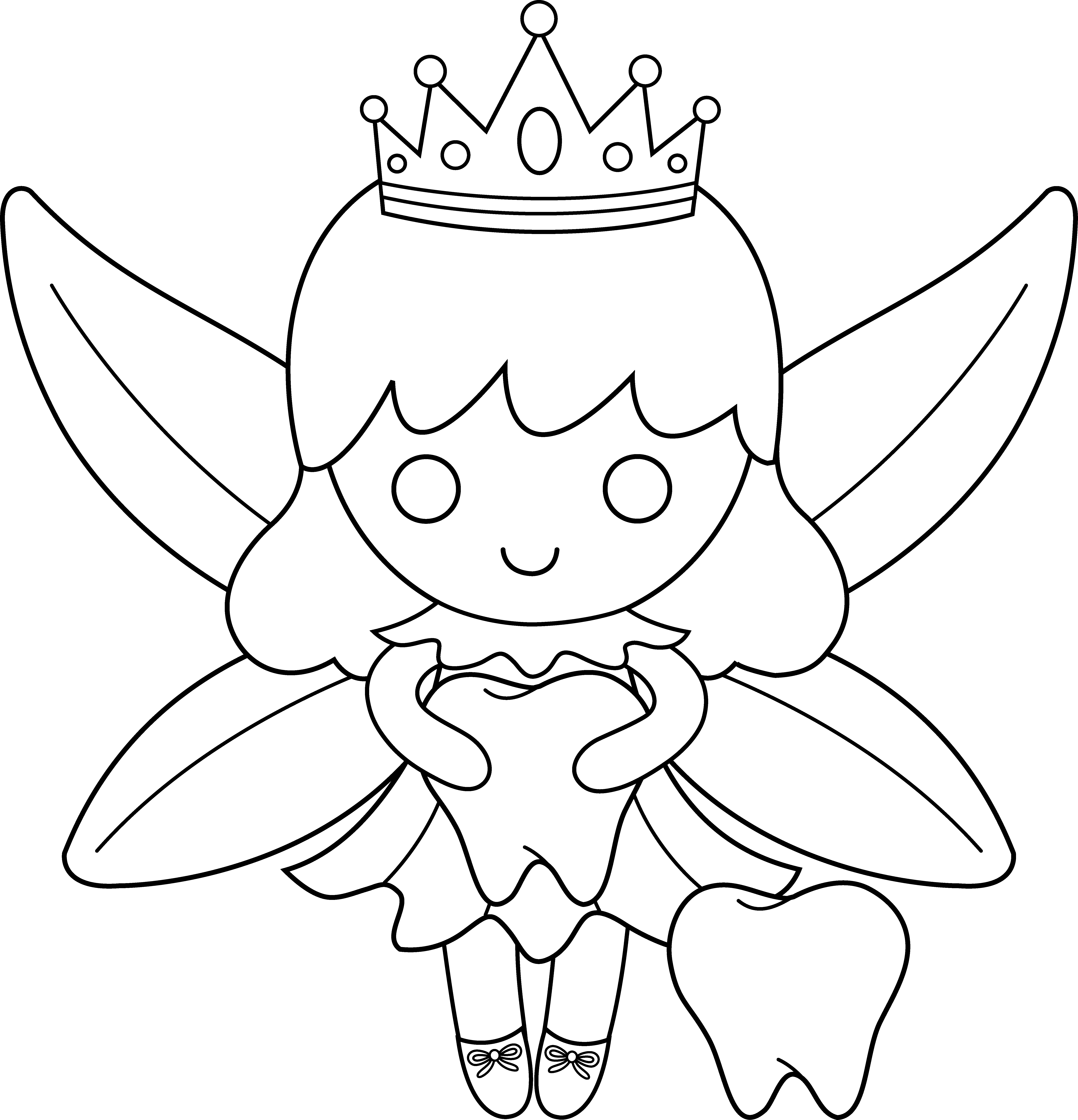 Tooth Fairy Printable Coloring Pictures Free