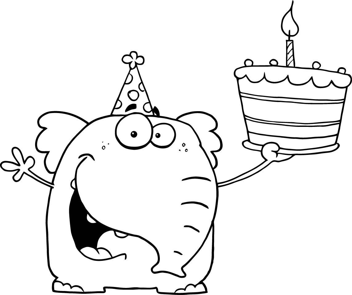 Pokemon happy birthday coloring pages - Birthday Coloring Pages For Kids Party