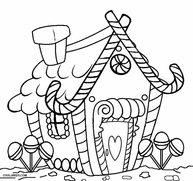 pertzborn gingerbread house coloring pages - photo#29