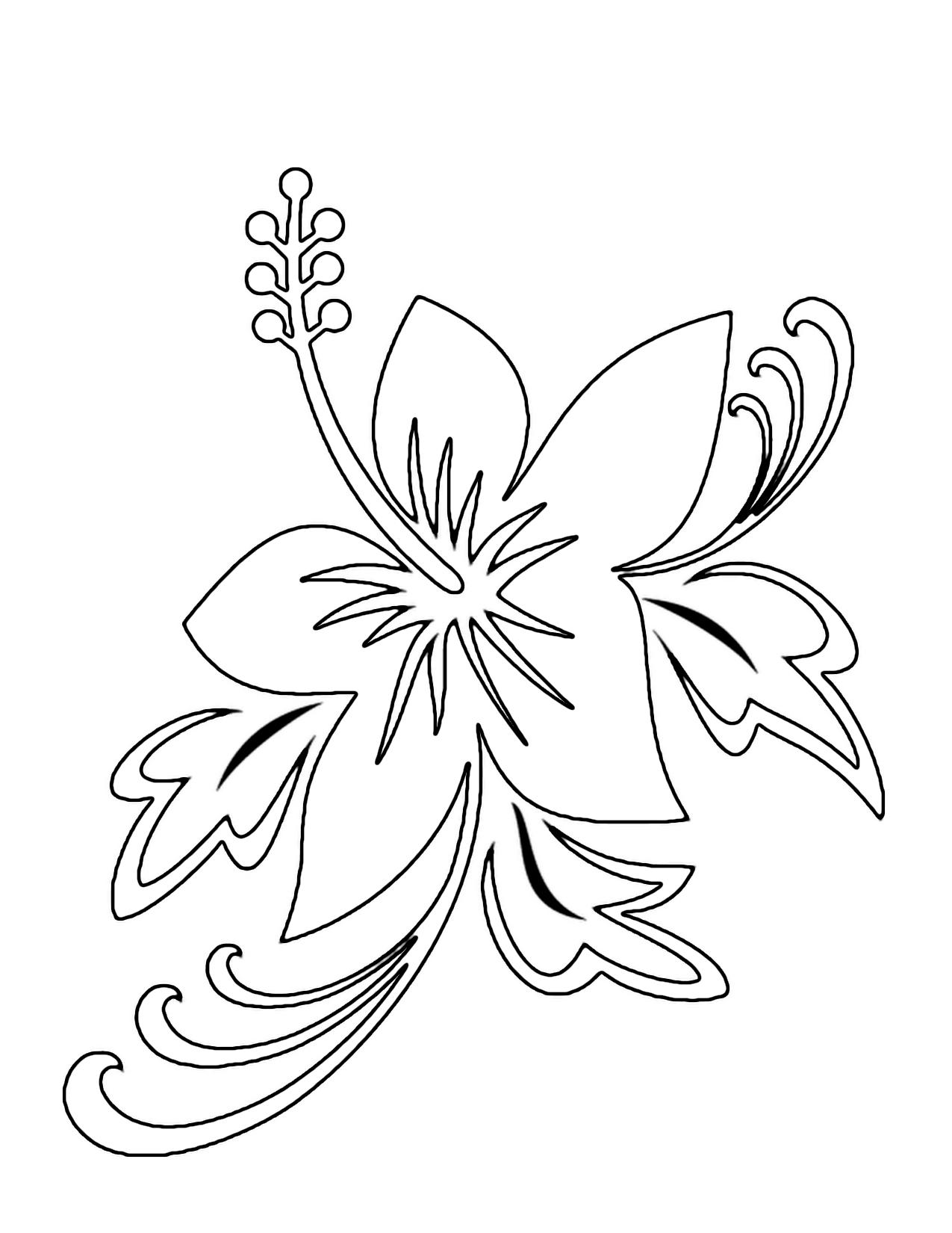 Hawaiian princess coloring pages - Hawaiian Coloring Pages