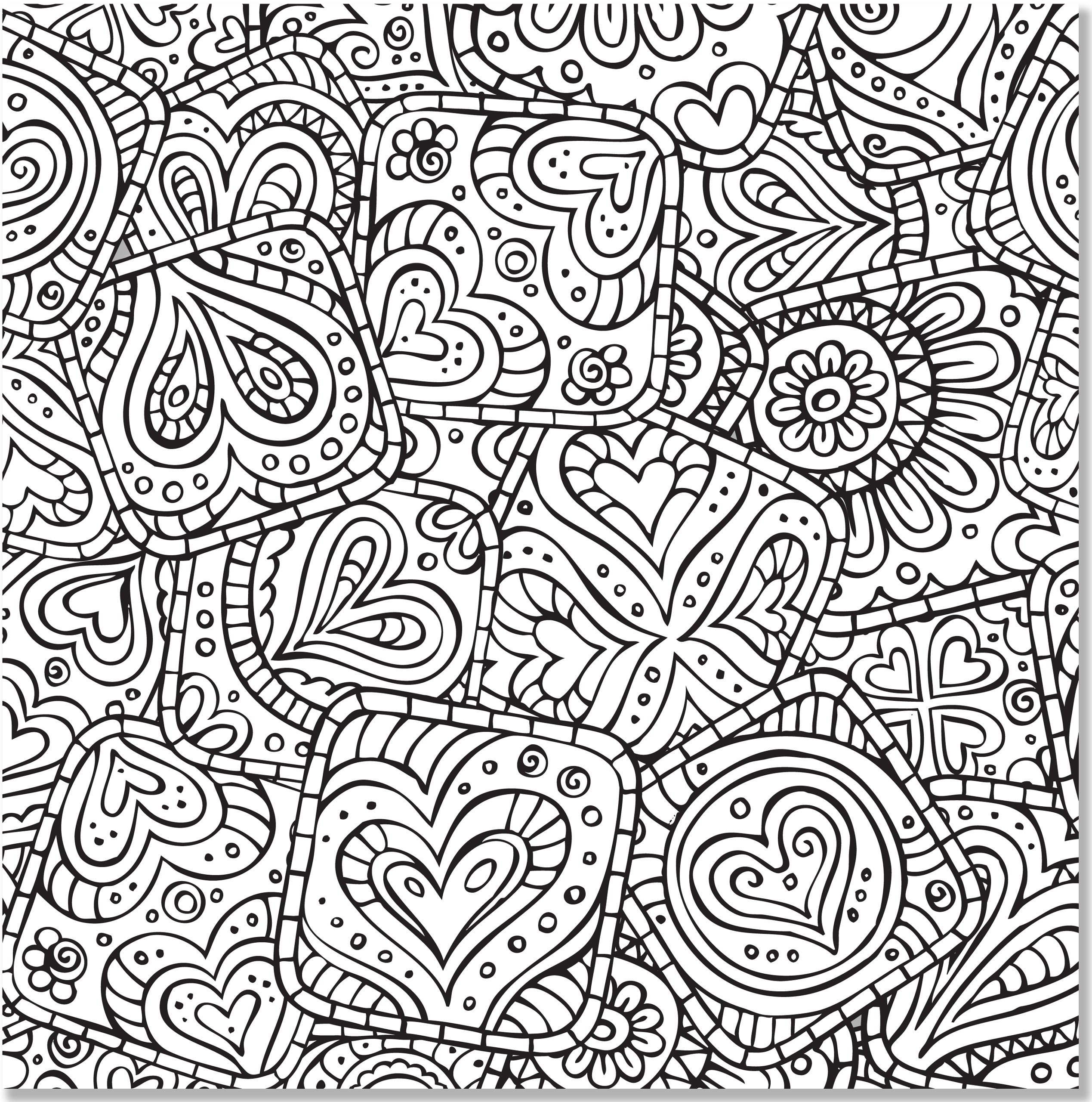 Doodle coloring pages to download and print for free for Adult color page