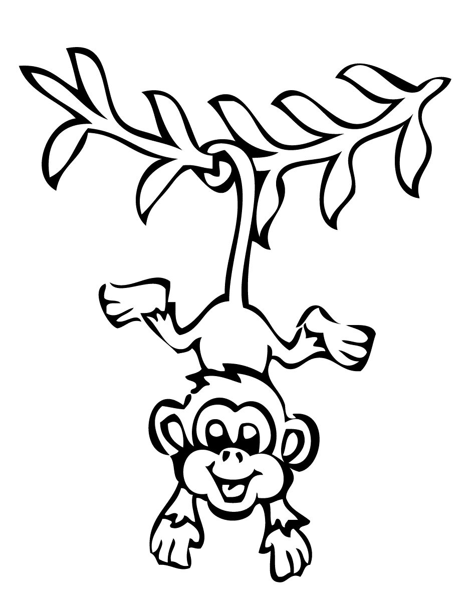 This is a photo of Ambitious Cute Monkey Coloring Pages