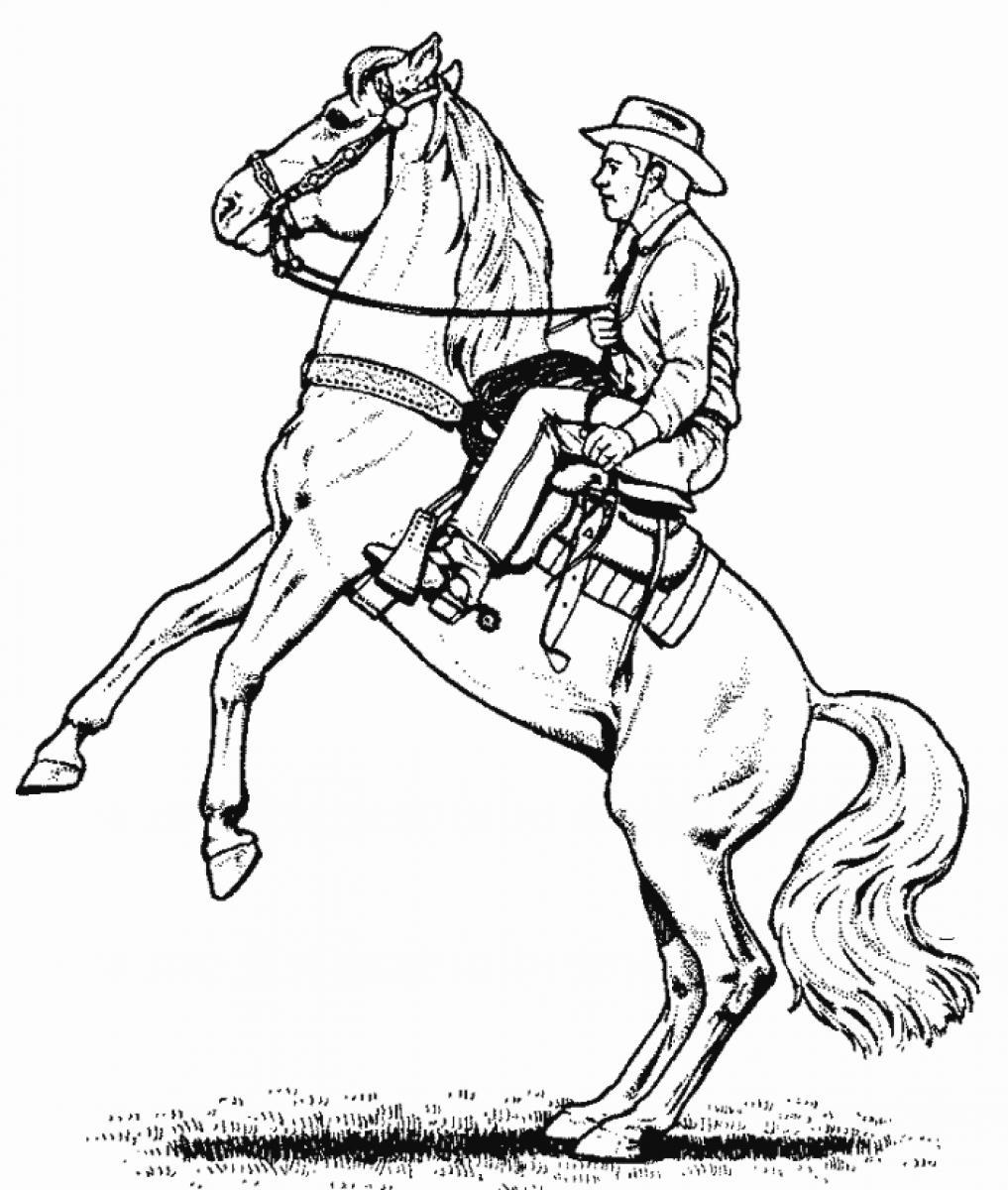 coloring cowboy book pages-#17
