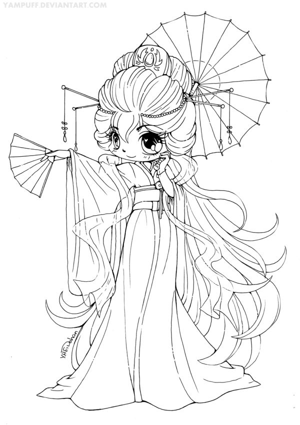 anime chibi boy coloring pages - photo#31