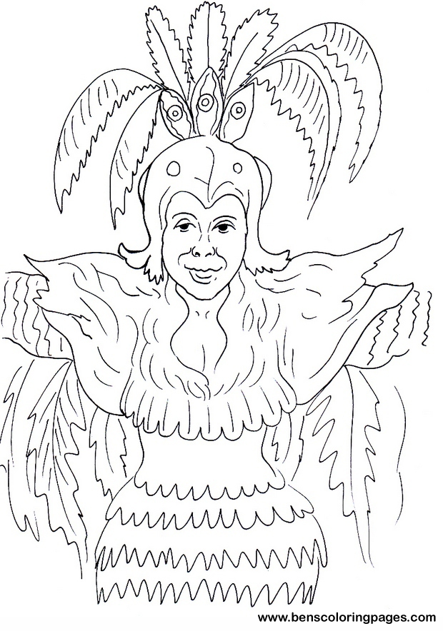 brazil carnival coloring pages - photo#8