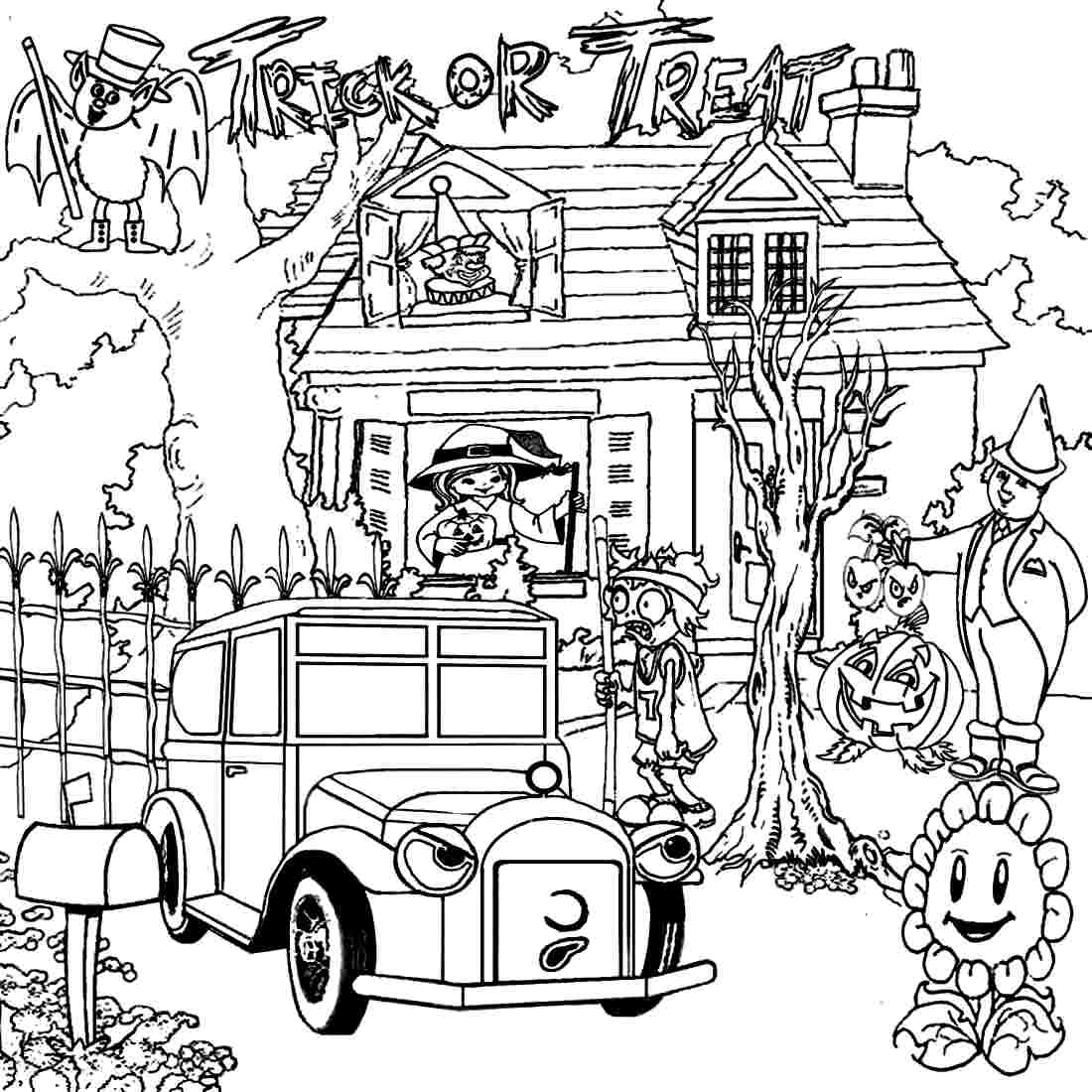 coloring pages haunted house - photo#28
