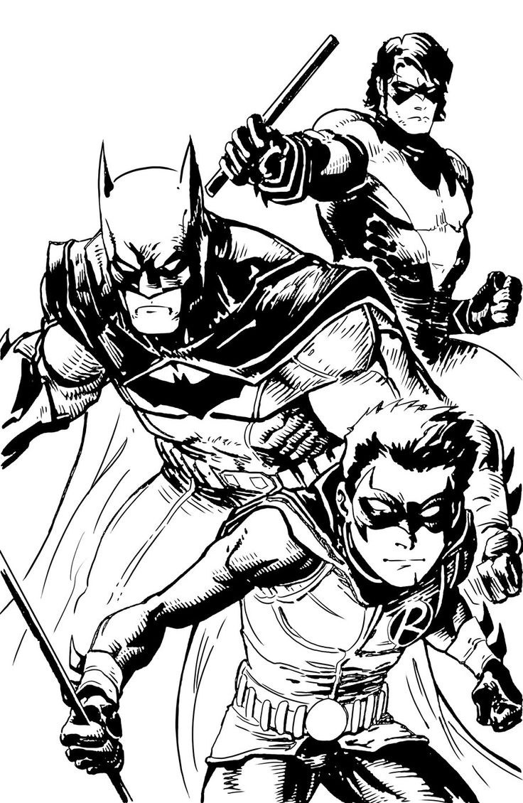 This is a photo of Resource batman and robin coloring pages