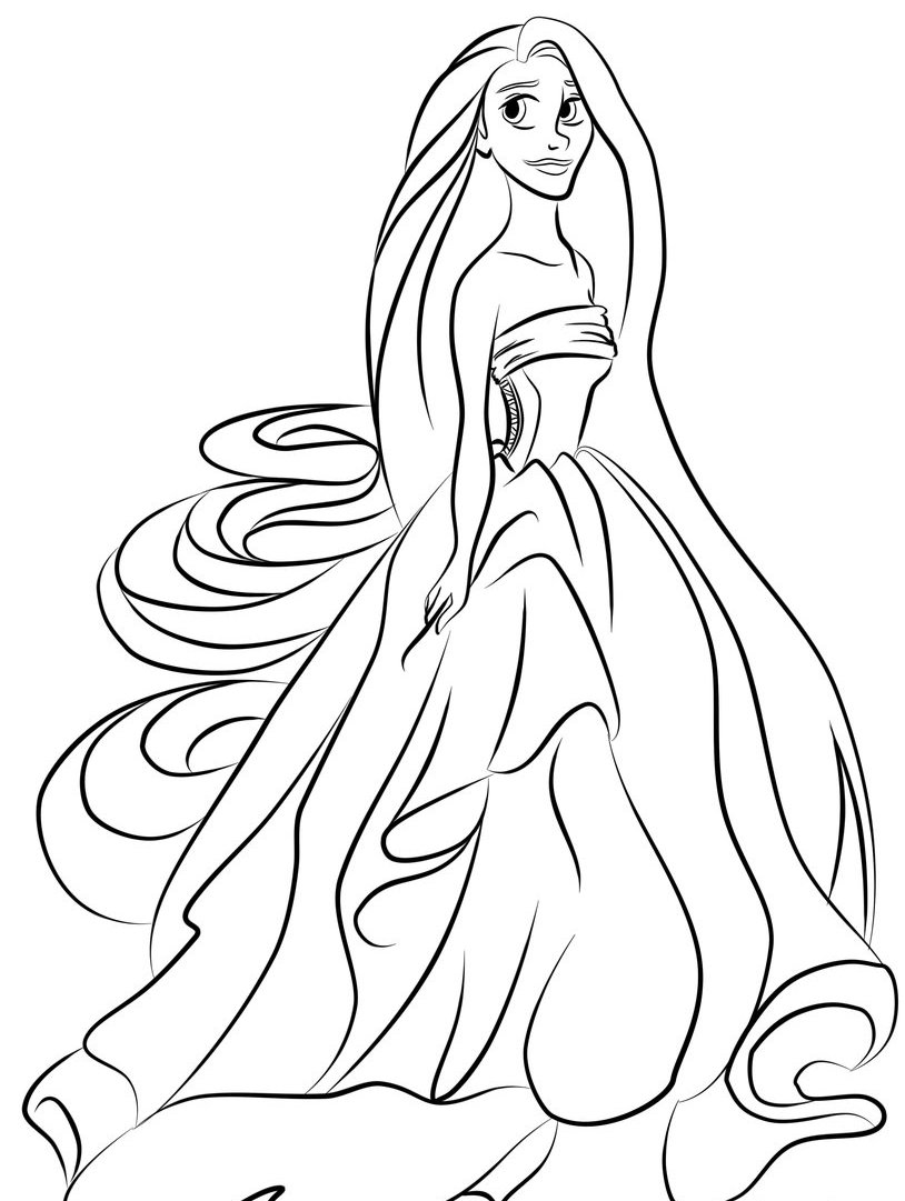 Baby Princess Coloring Pages To Download And Print For Free Princess Coloring Pages Baby Rapunzel Printable