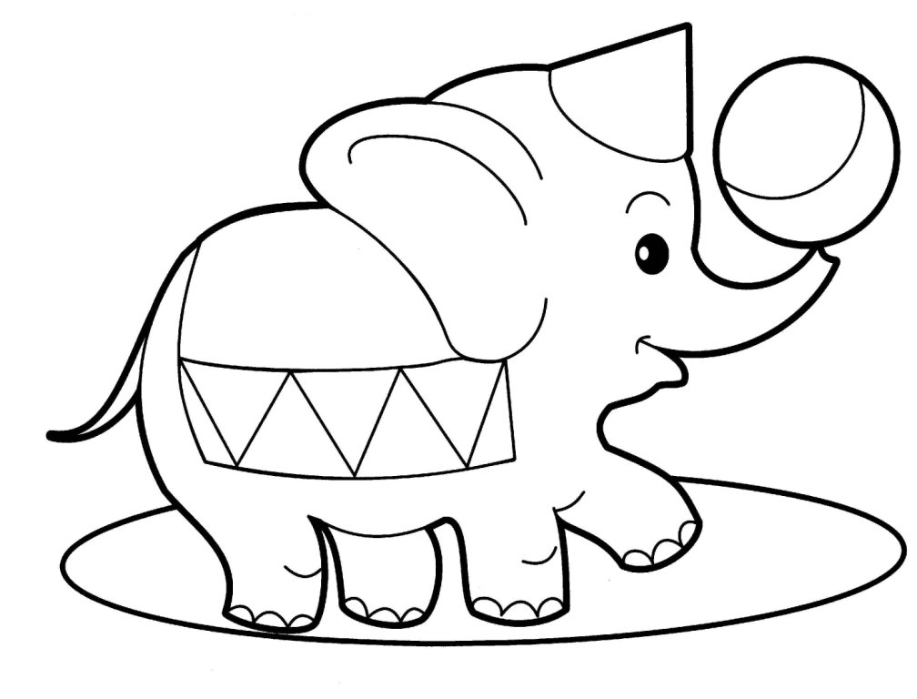 baby elephant coloring pages print - photo#40