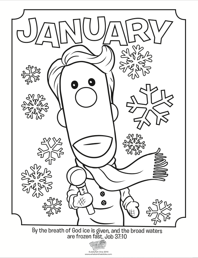 January coloring pages to download