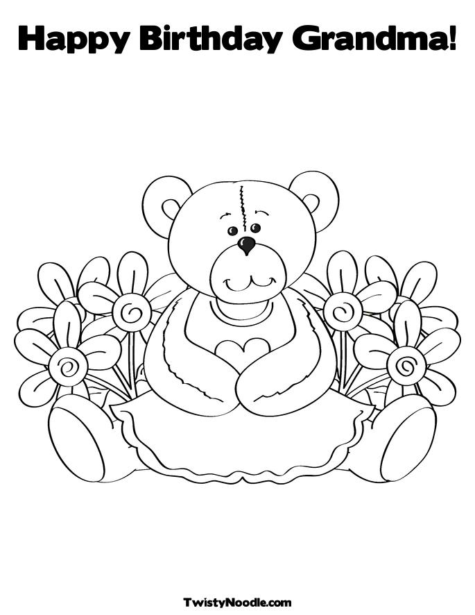 free grandma coloring pages-#33