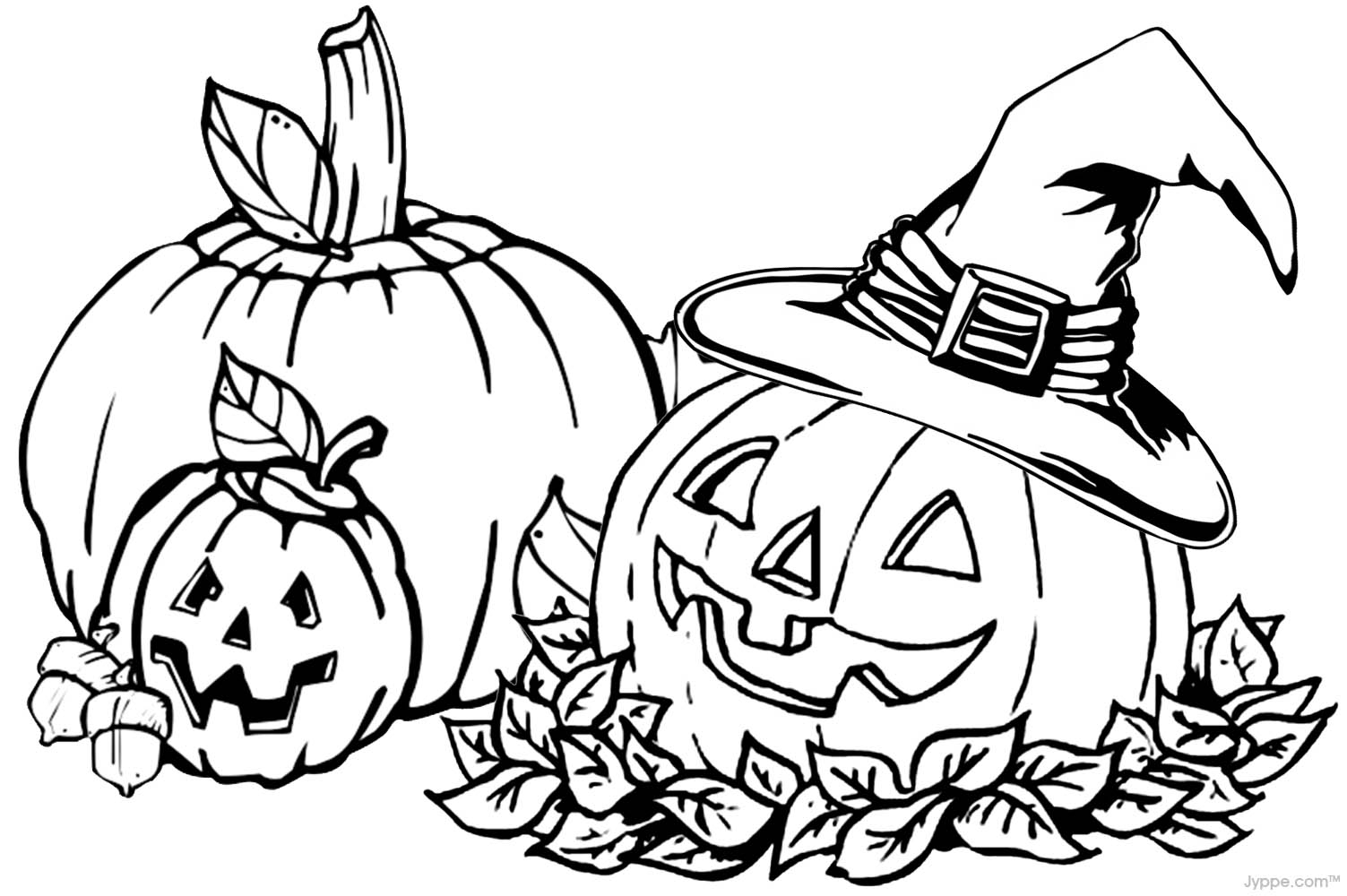 Autumn coloring pages to download