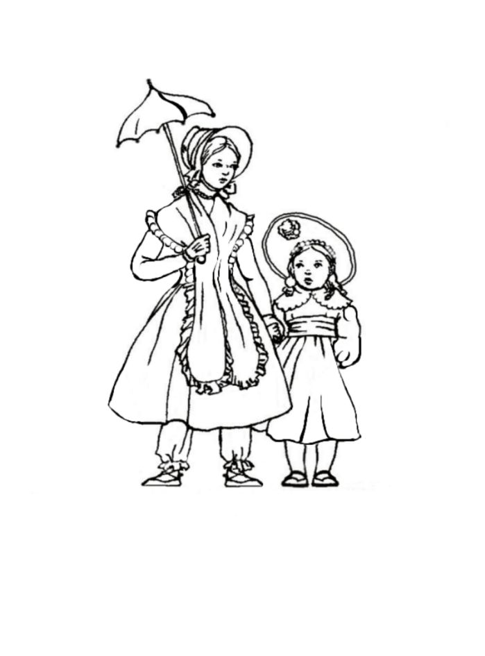kids drawing pages coloring sheets | Historical fashion coloring pages download and print for free