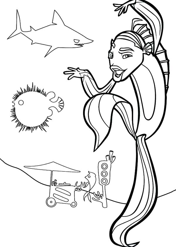disney shark tale coloring pages - photo #20