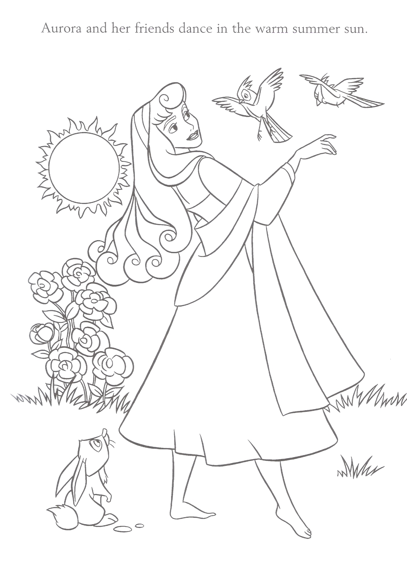 Aurora disney princess coloring