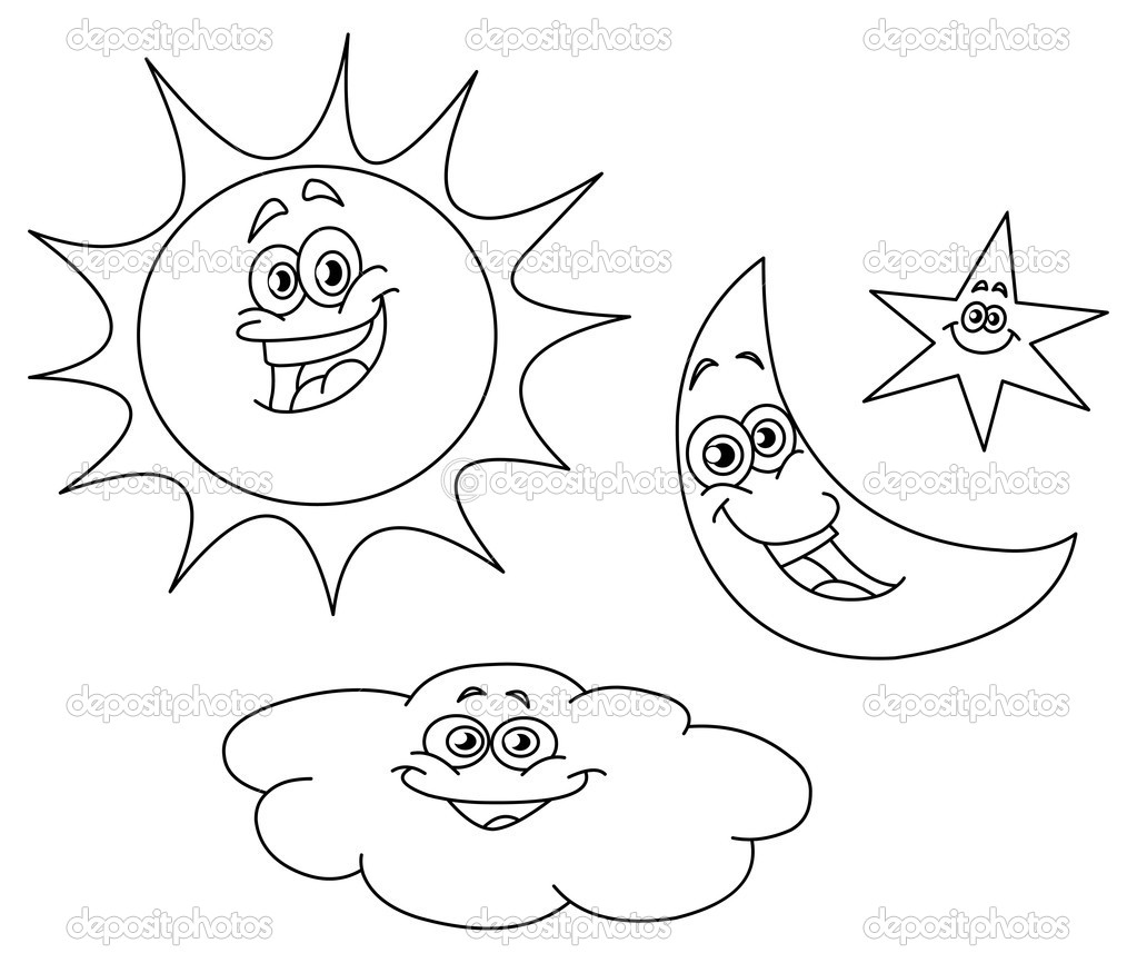 sun and moon coloring pages to and print for free