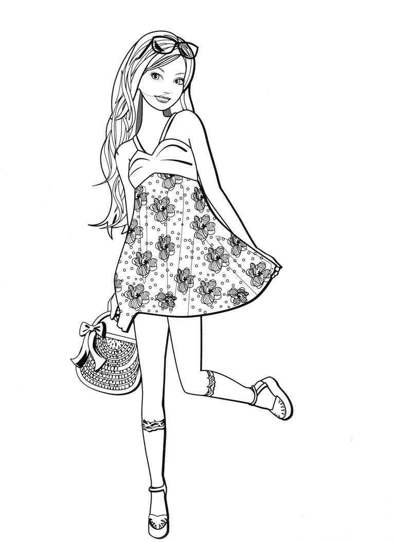 Ladies Coloring Pages to download and print for free