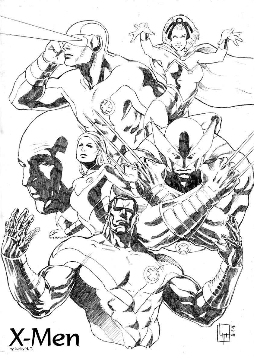 This is a photo of Declarative X Men Coloring Pages