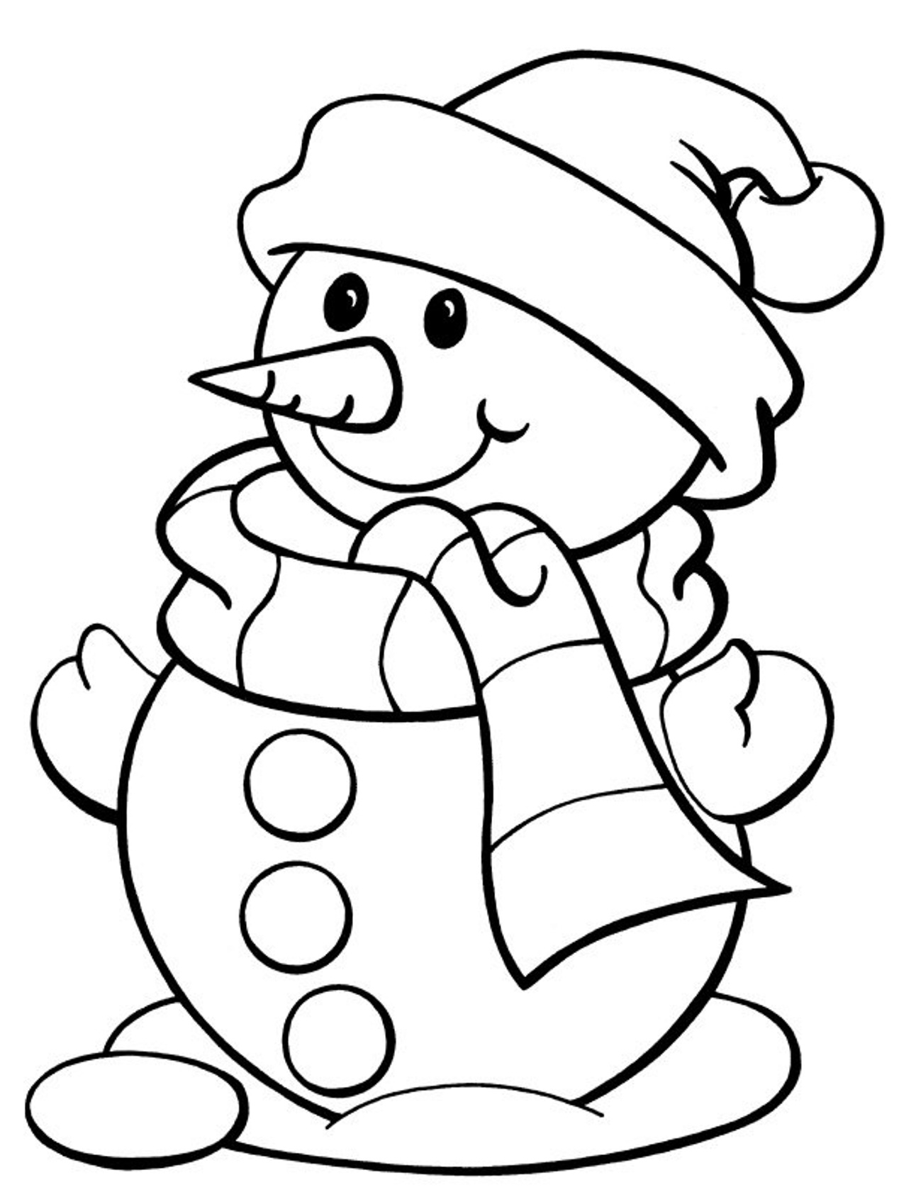 snow coloring pages free - photo#17