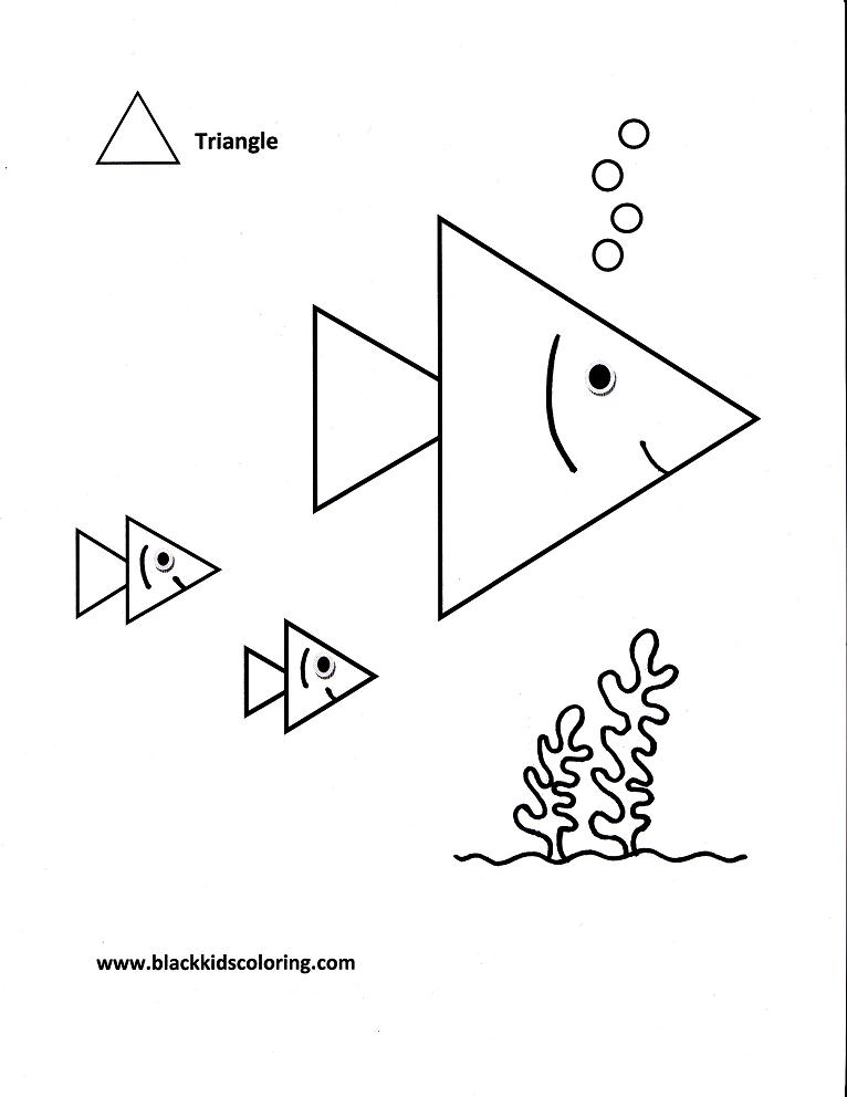 free triangles coloring pages to print for kids download print and color - Triangle Instrument Coloring Page
