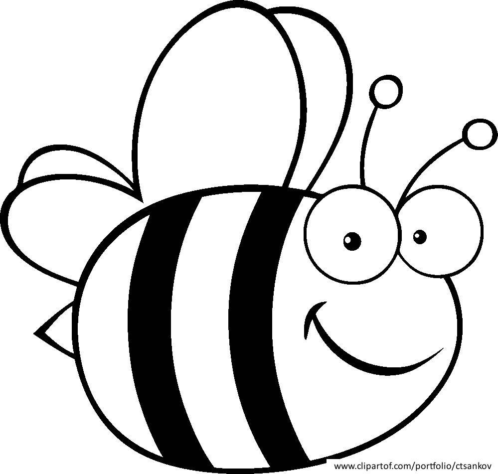 free bee coloring pages - photo#38