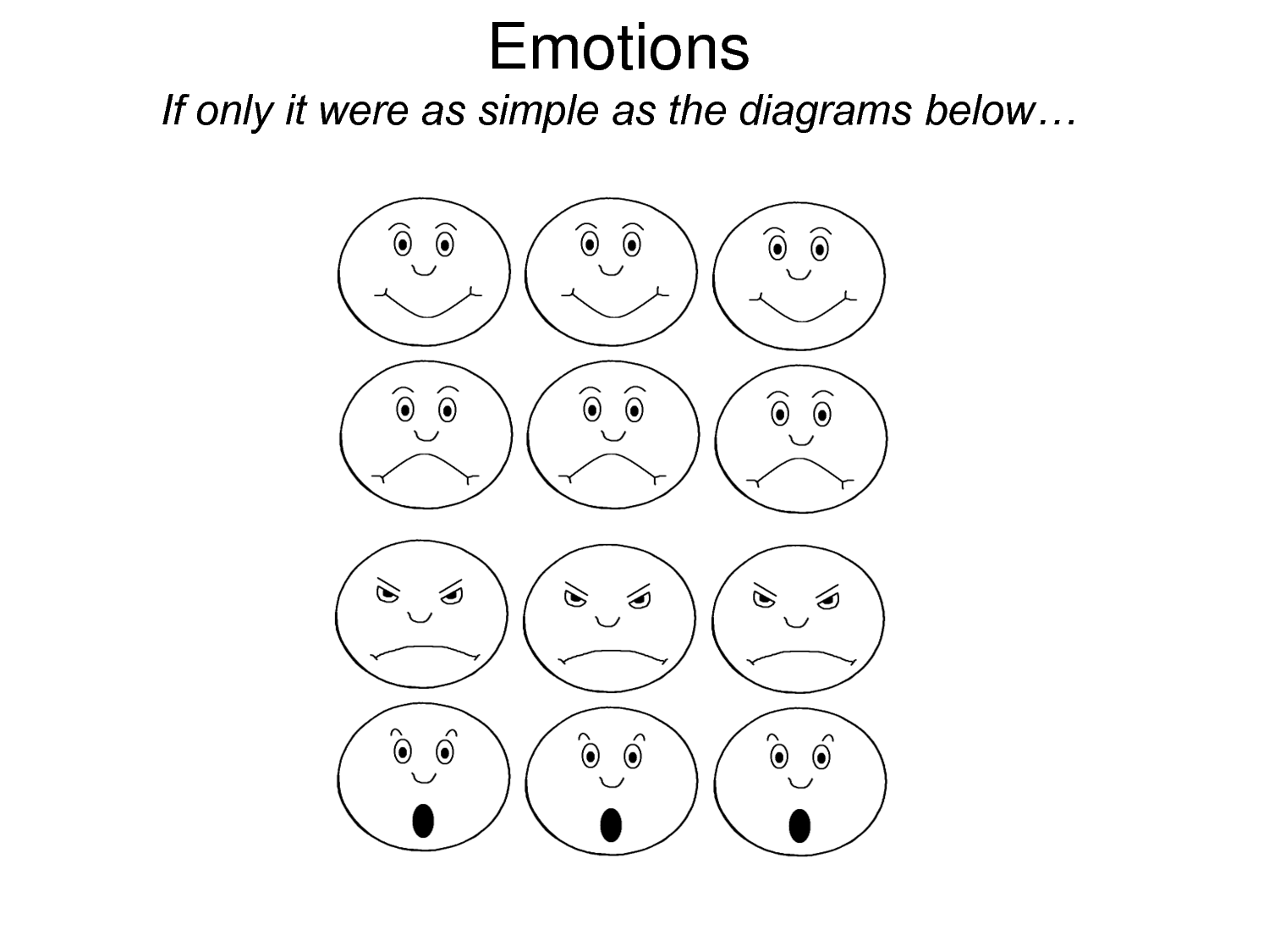 free printable emotions coloring pages - photo#1