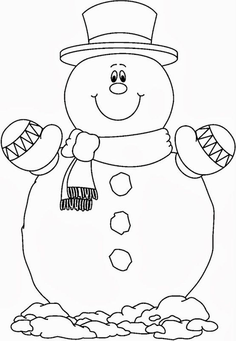 Snowman coloring pages to download and print for free for Coloring pages of snowman