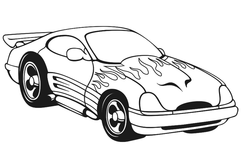 Real cars coloring pages download