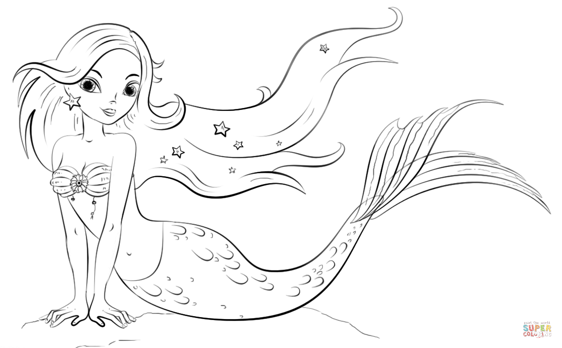 mermaid coloring pages printable realistic mermaid coloring pages download and print for free