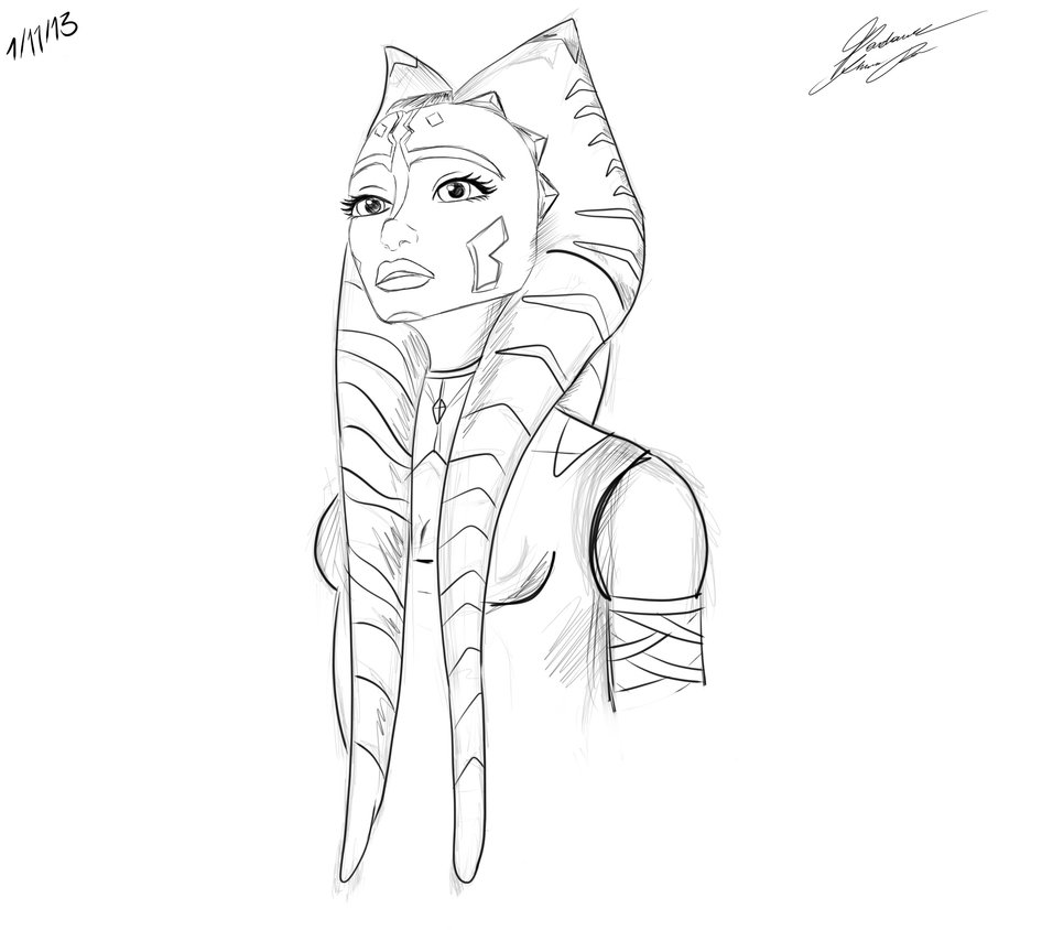 Ahsoka coloring pages download
