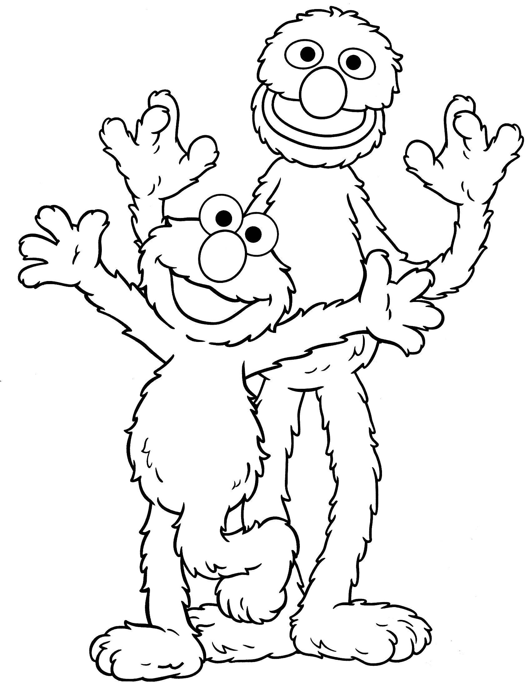 Sesame street coloring pages to download and print for free for Sesame street color pages